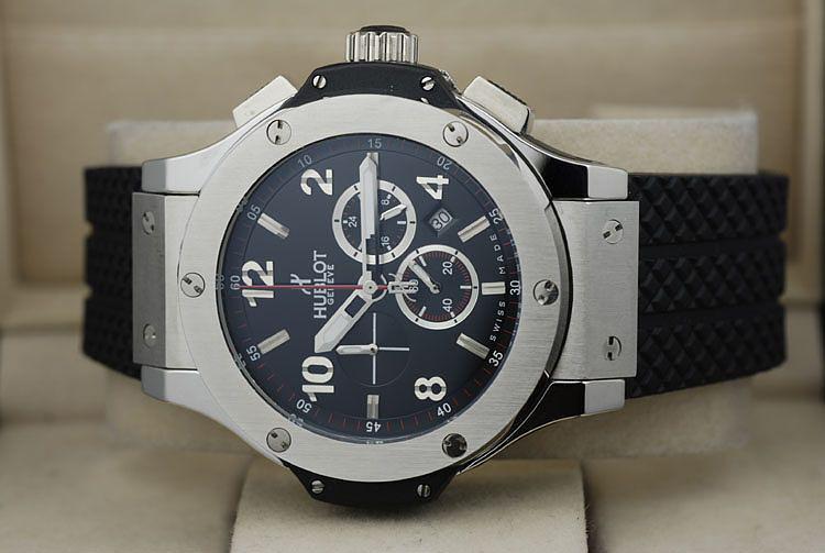 impressive natural black Hublot wrist watches
