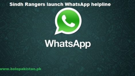 Sindh Rangers Launch WhatsApp helpline service