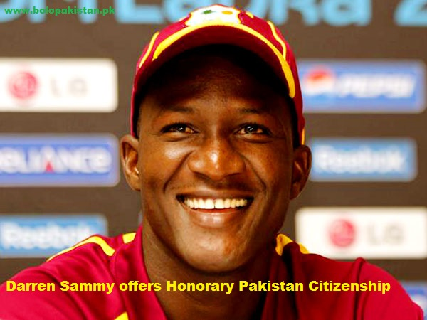 darren sammy offers pakistan citizenship
