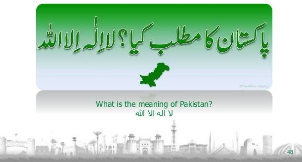 Meaning of Pakistan