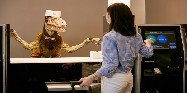 Hotel in Japan where guests are welcomes by Dinosaur